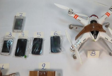 Drone caught delivering phones, knife and drugs at a high-security prison