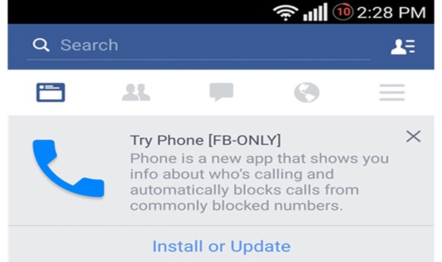 Facebook Planning to replace your Android Smartphone's Dialer