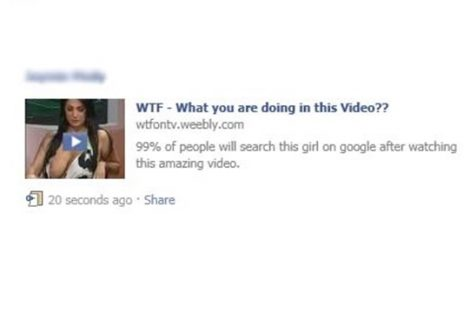 Facebook users targeted with 'Wat are u Doing in This Video' Message Phishing Scam