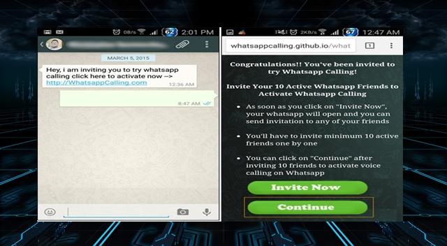 WhatsApp Voice Calling Invitation Text Spreads Malware on Smartphone