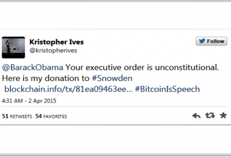 American Citizen wants to be arrested for Donating Bitcoins to Snowden