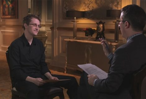 Snowden Shows John Oliver How The NSA Collects Your Dick Pics