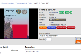 Stolen Accounts and Bogus NYPD Badges for Sale at Dark Web Marketplaces