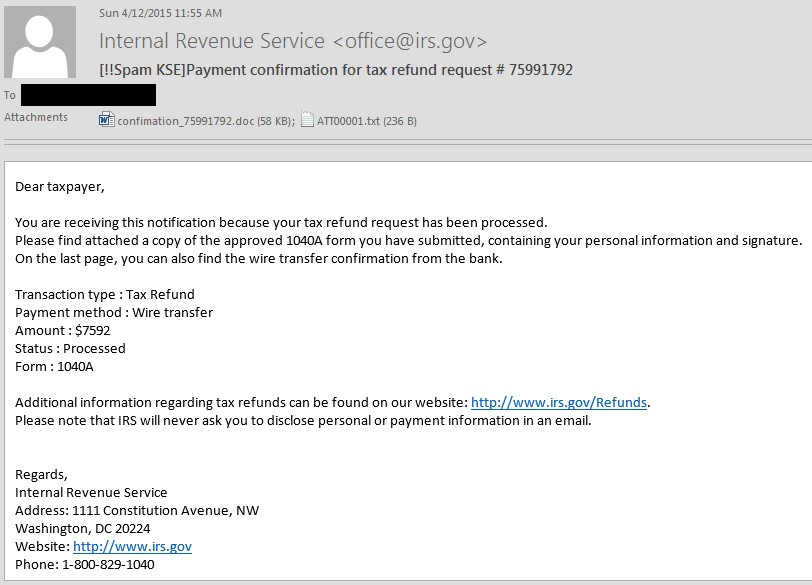 us-citizens-targeted-with-ransomeware-via-fake-irs-tax-return-emails