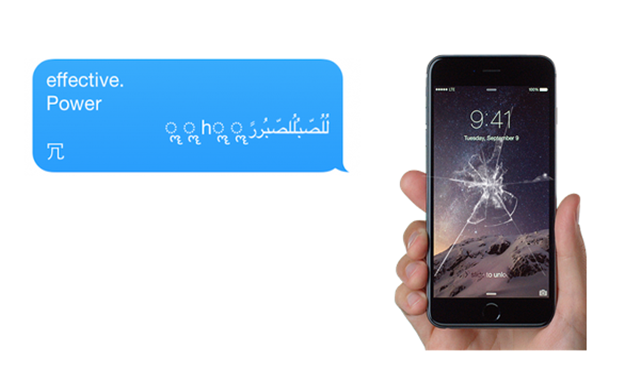 A bug lets you crash anyone's iPhone with a text message