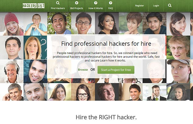 Professional hackers available for hire, charge over US$200