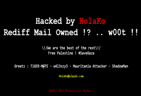 Famous online Indian portal 'Rediff' Hacked by Palestinian Hacker