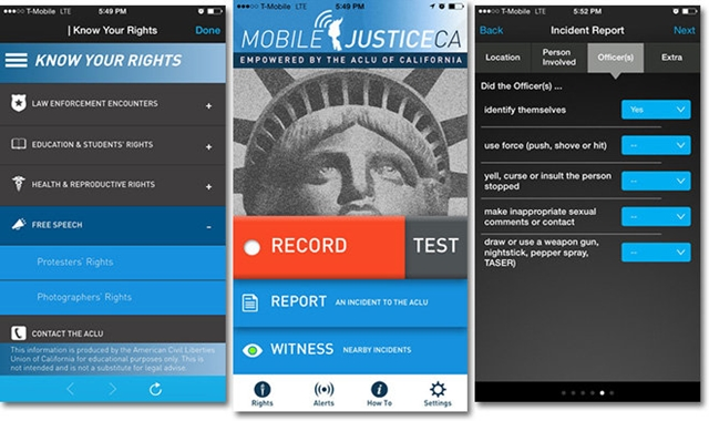 ACLU California Launches Police monitoring and recording app