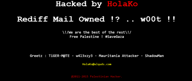 subdomain-of-indian-online-portal-rediff-hacked-by-palestinian-hacker