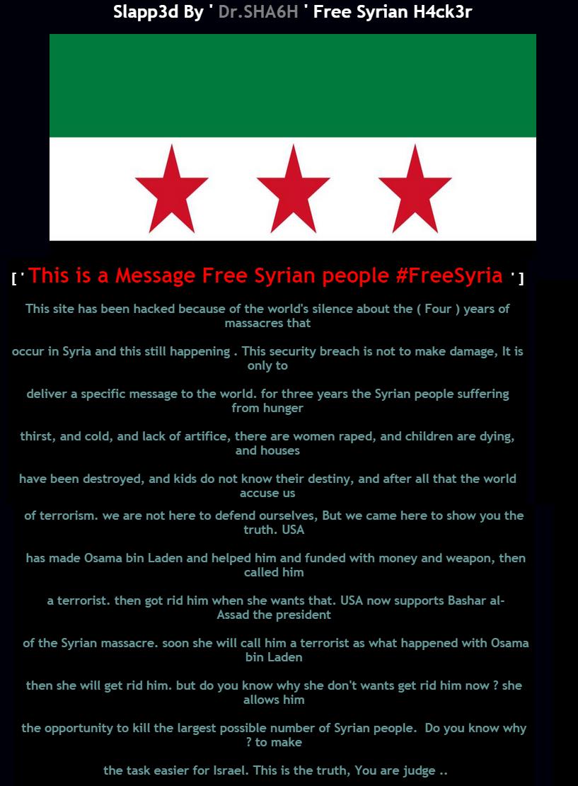 Website of Uzbek Embassy in Kuwait hacked by anti-Assad Hacker