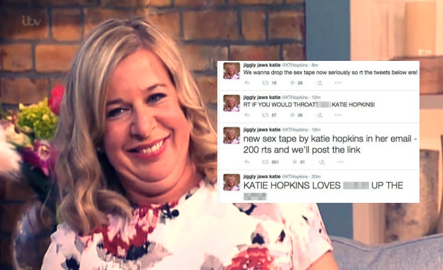 Katie Hopkins Twitter Account Hacked, Threatens To Leak Sex Tape