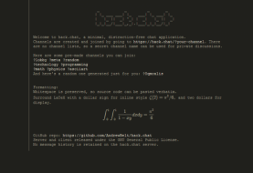 Hack.Chat – Instantly Create A Disappearing Chat Room and Chat Anonymously