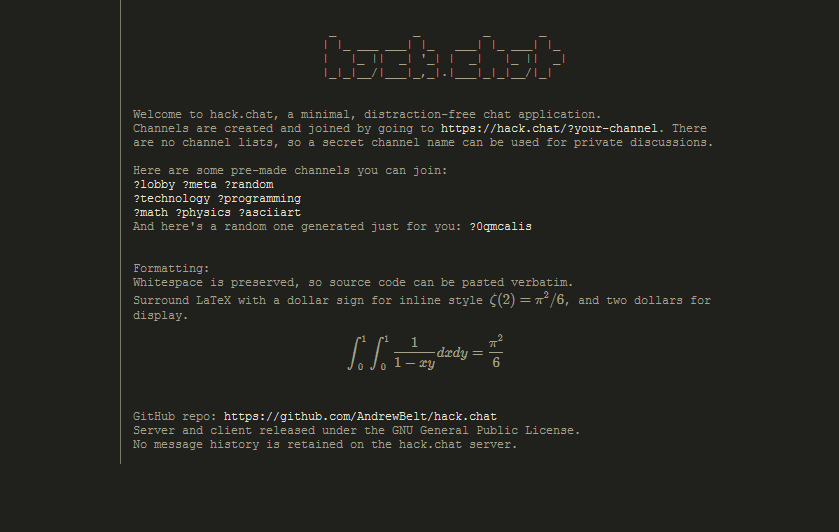 Hack.Chat - Anonymous Chatroom