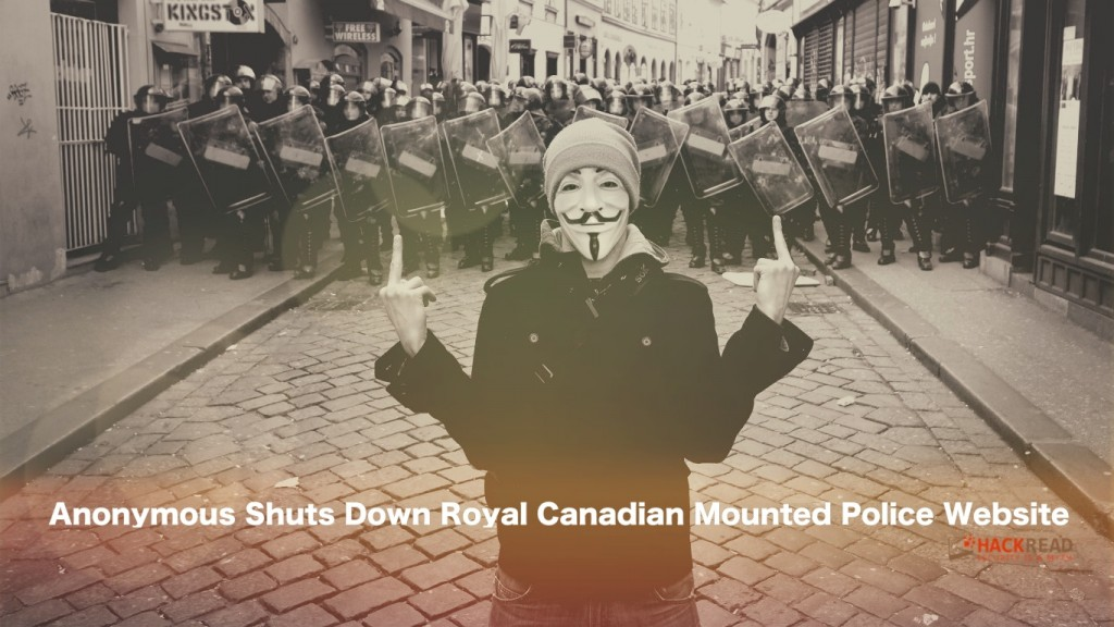 Anonymous Targets Canadian Police, Crashes RCMP's Website