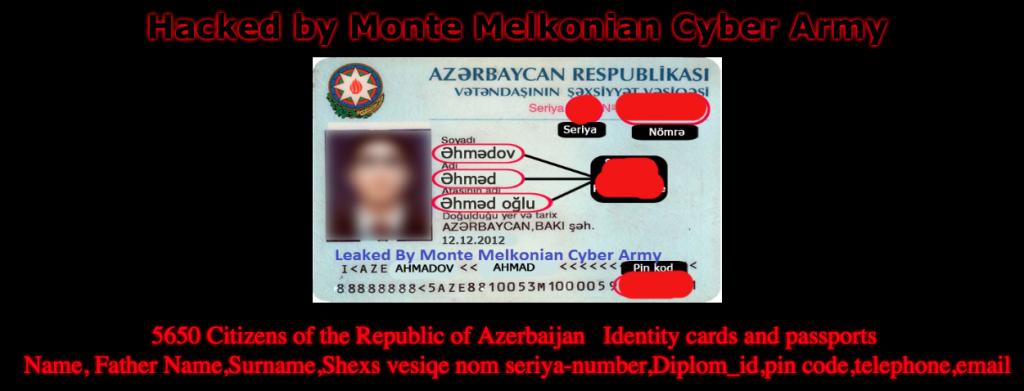 armenian-hackers-leak-id-card-passport-of-5k-azerbaijani-citizens