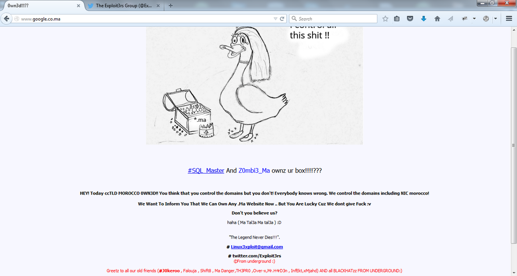 google-microsoft-kaspersky-labs-morocco-websites-hacked