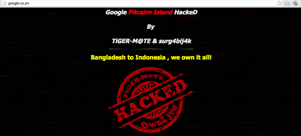 google-pitcairn-island-hacked