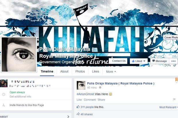 malaysian-police-facebook-twitter-accounts-hacked-by-pro-isis-hackers
