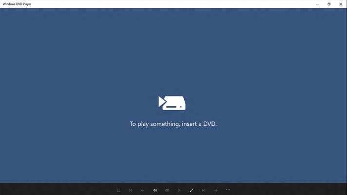 Windows DVD Player is very basic and very expensive – Image credit Microsoft