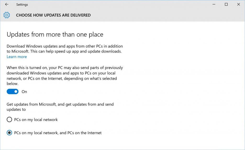 Windows 10 WUDO Settings