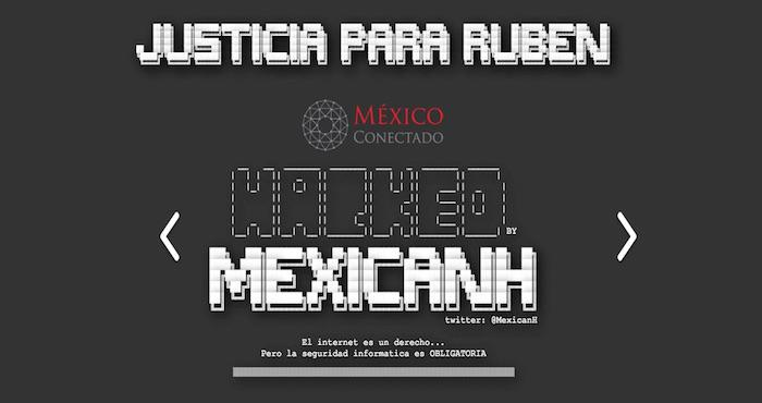 The deface page left by Anonymous Mexico.