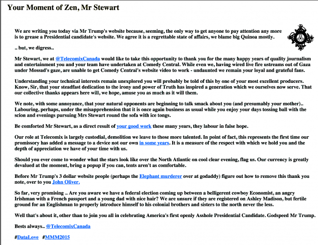 donald-trumps-website-hacked-left-with-tribute-message-for-jon-stewart