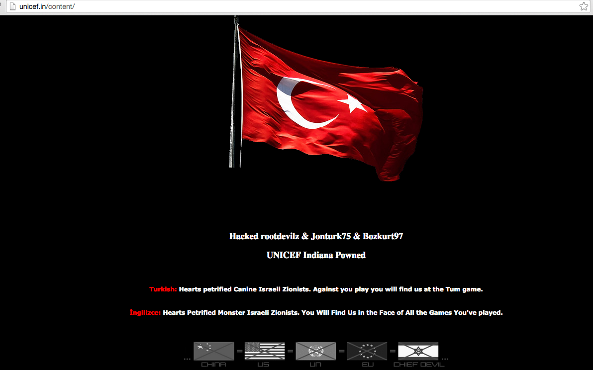 unicef-india-website-hacked-by-turkish-hackers