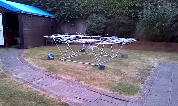 Homemade Drone Powered Helicopter - 2013 Test Run