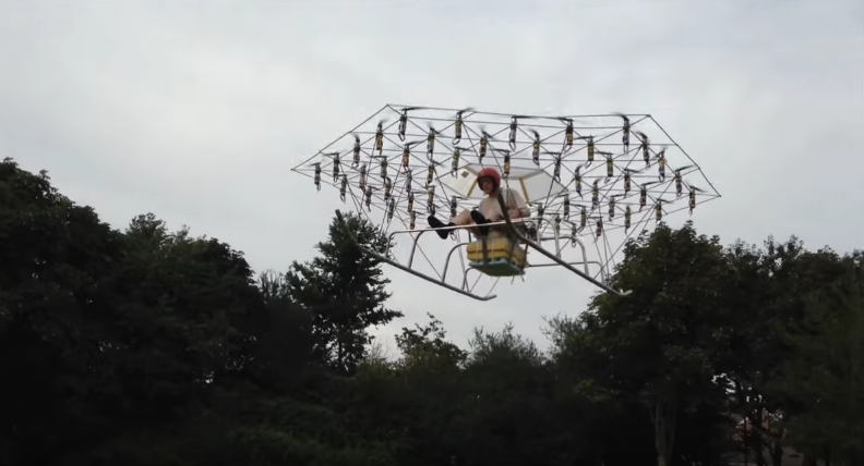 Homemade Drone Powered Helicopter - 2015 Test Run