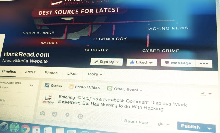 Posting @[4:0] in Facebook Comment Shows 'Mark Zuckerberg', it Won't Get You Hacked