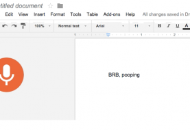 New Option in Google Docs Allows You to Type with Your Voice