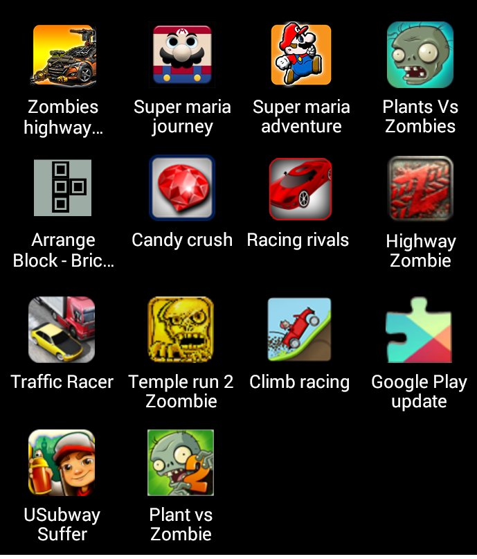 popular android games list