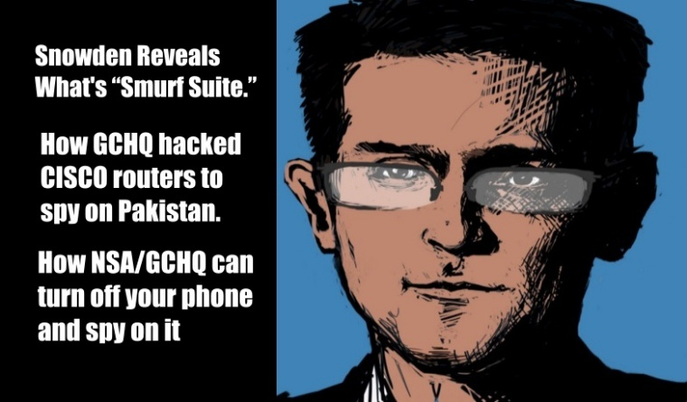 """Snowden Exposes """"Smurf Suite"""", Reveals GCHQ Hacked Cisco Routers in Pakistan"""