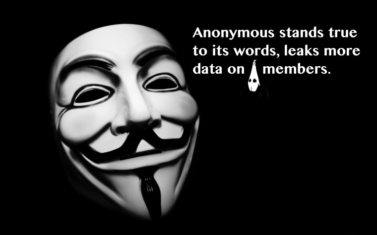 Anonymous stands true to its words, leaks more data on alleged KKK members