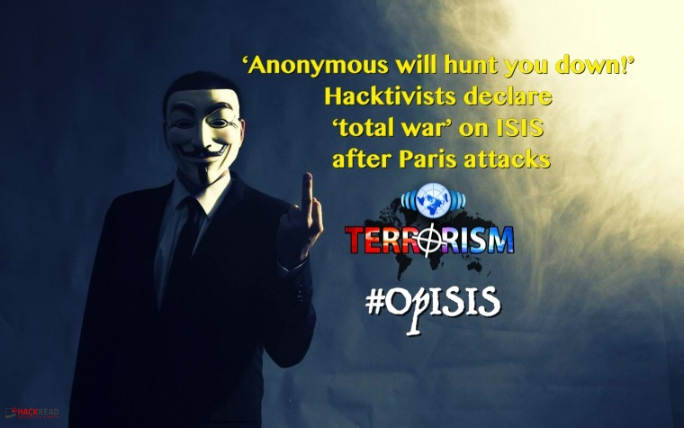 Anonymous Waging War on ISIS, Vows to Hunt Down Terrorists After Paris Attacks