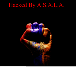 The deface page uploaded by the hackers on Azerbaijan Central Bank subdomain.