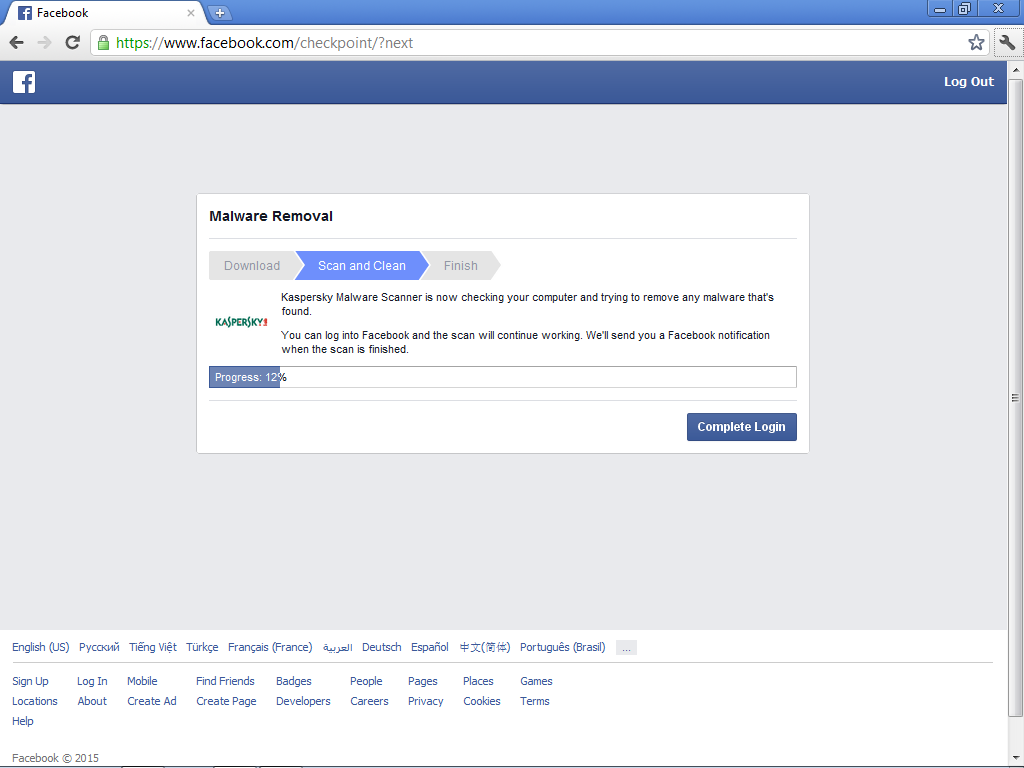 Facebookcollaboratingwithkaperskytospotmalwareon How To Activate 2 Steps  Verification On Facebook ?