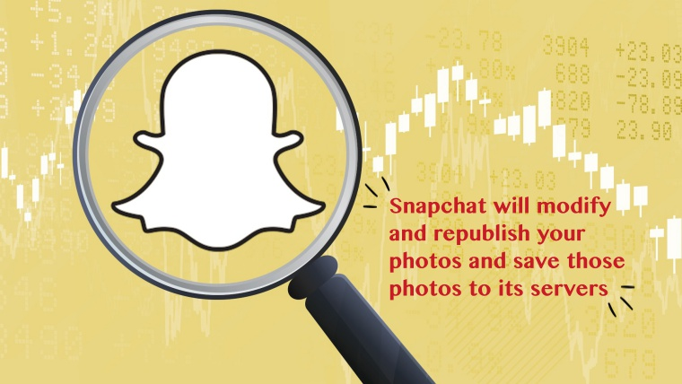 Snapchat to save, modify and republish your private photos