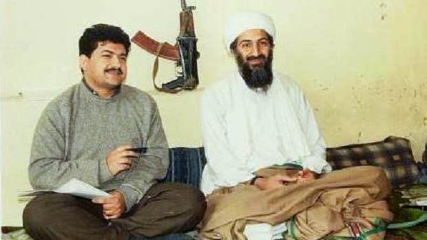 Mir with Osama Bin Laden / Image Source: WikiPedia