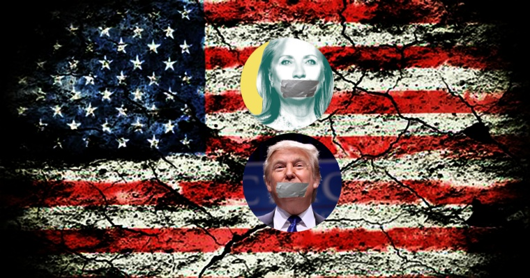Trump, Clinton Would Like To Burn Freedom of Speech on Internet