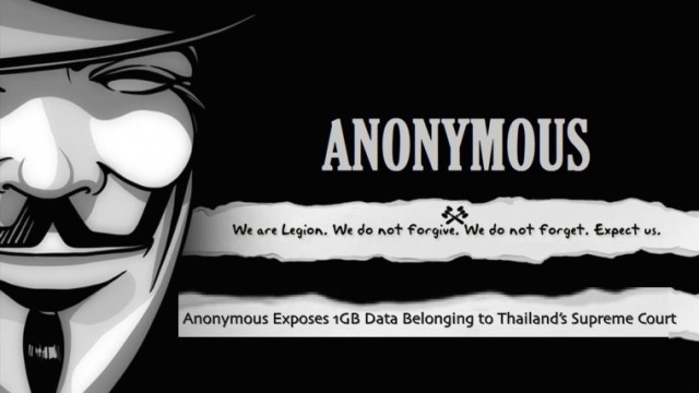 Anonymous Exposes 1GB Data Belonging to Thailand's Supreme Court
