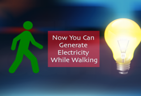 Researchers Create Device That Produces Electricity When You Walk