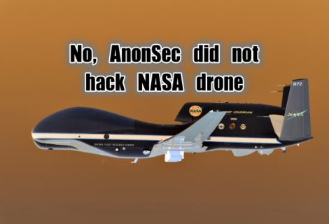NASA Denies AnonSec's Claim of Hacking Global Hawk Drone
