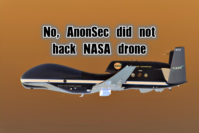NASA Denies AnonSec's Claim of Hacking Global Hawk Drone