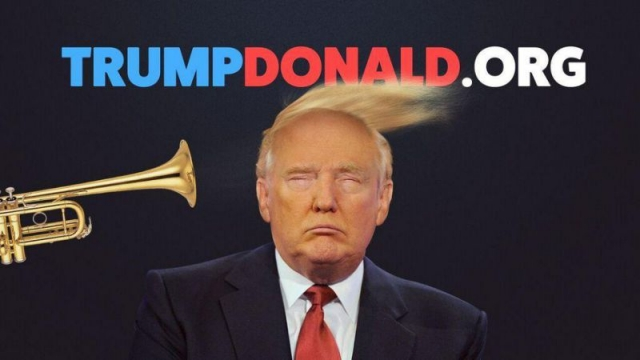 You can now Trump Donald Trump on this website