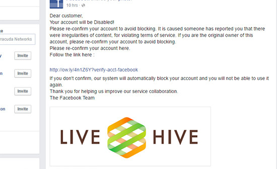 Facebook Users Hit with irregularities of content Phishing Scam