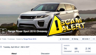 Range Rover Sport 2016 Give Away Facebook Scam Brining Stupid Out of Users-5