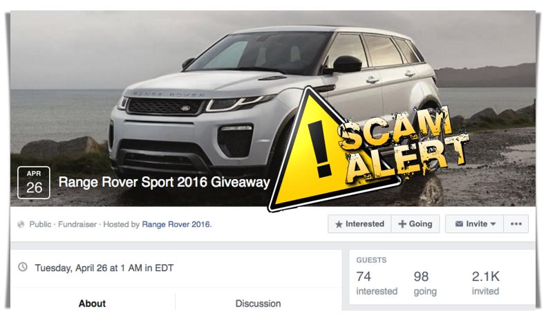 range rover give away scam autos post. Black Bedroom Furniture Sets. Home Design Ideas