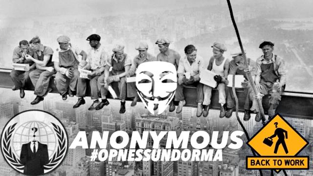 Anonymous Hack Italian Job Portals, Leak Trove of Data Against New Labour Laws