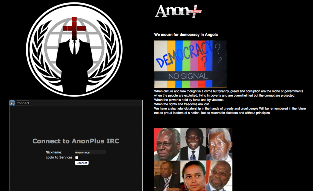Screenshot of the deface page uploaded by Anonymous